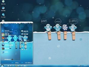 雪人一家电脑主题