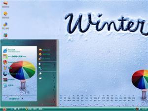 可爱冬雪电脑主题