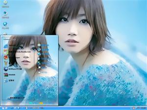 美女水粉画电脑主题