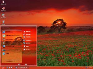 红色花海电脑主题