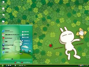 兔斯基可爱卡通电脑主题
