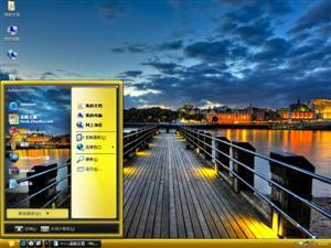 码头风景电脑主题