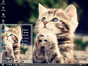 祈祷猫咪电脑主题