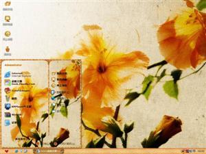 复古花朵电脑主题