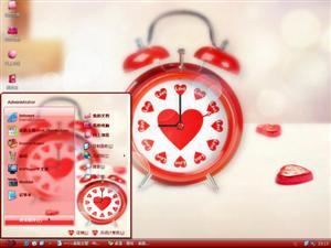 爱情闹钟电脑主题