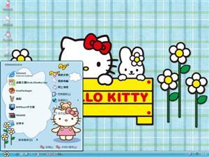 Hello Kitty可爱卡通电脑主题