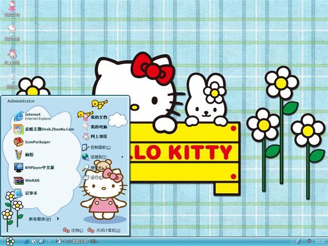 Hello Kitty可爱卡通桌面主题