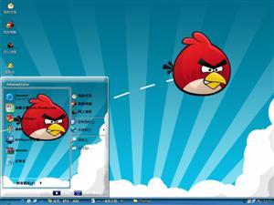 可爱愤怒的小鸟电脑主题