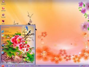 花鸟风月彩图电脑主题