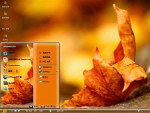 秋风落叶电脑主题