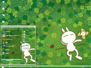 可爱兔斯基电脑主题