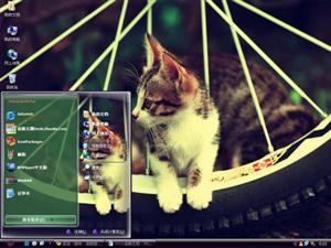 悠闲猫咪电脑主题