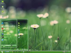 绿色雏菊电脑主题