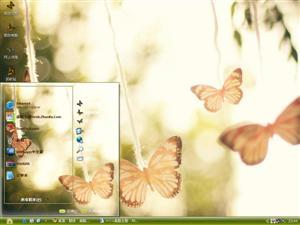 蝴蝶恋上花电脑主题