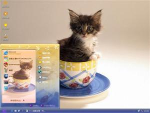 杯中小猫电脑主题