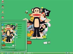 可爱大嘴猴电脑主题