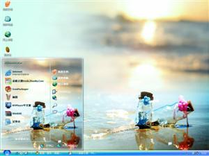 海滩电脑主题