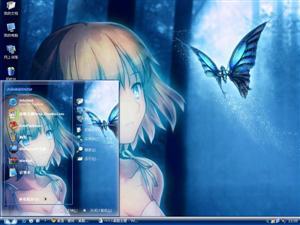 蝴蝶少女电脑主题