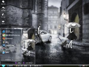 雨中的爱情电脑主题