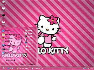 粉红Hello Kitty电脑主题