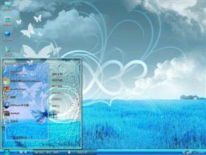 蝴蝶花的海洋电脑主题