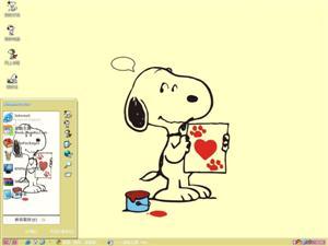 史努比可爱卡通电脑主题