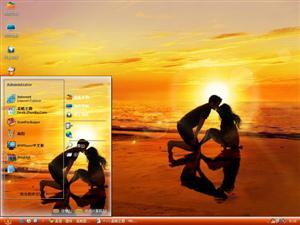 浪漫夕阳下电脑主题