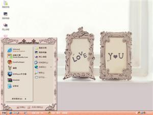 甜蜜相框电脑主题