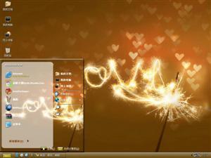 爱情闪耀电脑主题