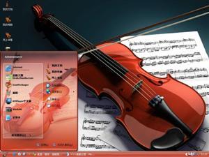 精美小提琴电脑主题