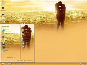 黄昏浪漫情侣电脑主题