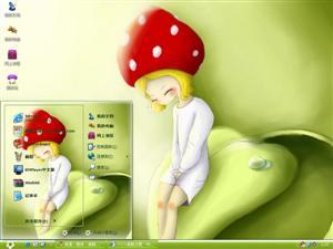 蘑菇女孩电脑主题