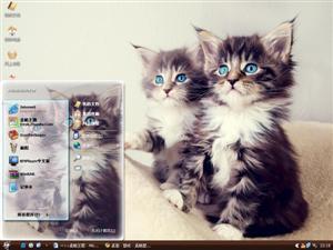 可爱双子猫电脑主题