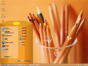 唯美铅笔电脑主题