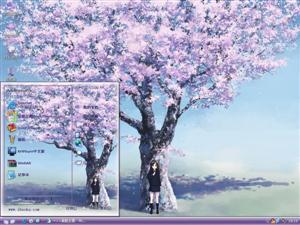 樱花树下电脑主题