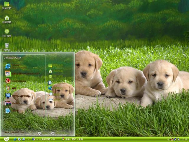 狗狗的世界电脑主题图片