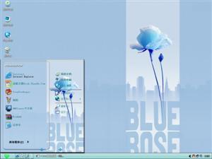 蓝色玫瑰电脑主题