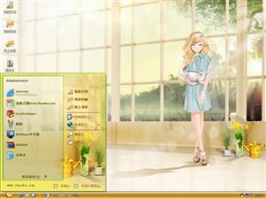 甜美少女电脑主题