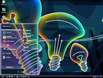 3D多彩霓虹电脑主题