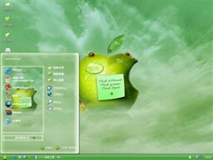 绿色苹果电脑主题