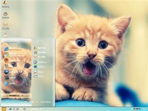 调皮猫咪电脑主题