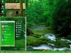 森林木屋电脑主题