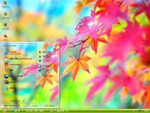 秋之枫叶情电脑主题