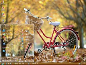 唯美自行车电脑主题
