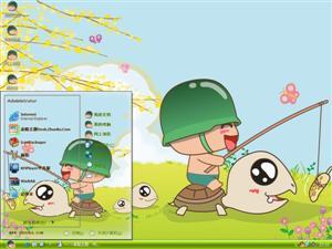 炮炮兵和小乌龟电脑主题
