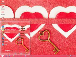 爱心之钥电脑主题