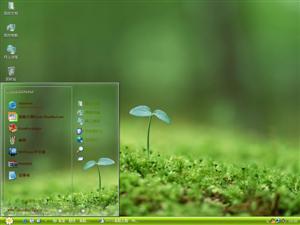 清新绿苗电脑主题