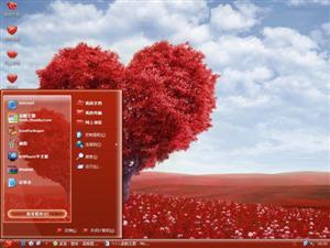 心形树电脑主题