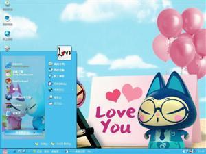 拽猫的爱情电脑主题