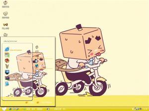 张小盒骑车电脑主题